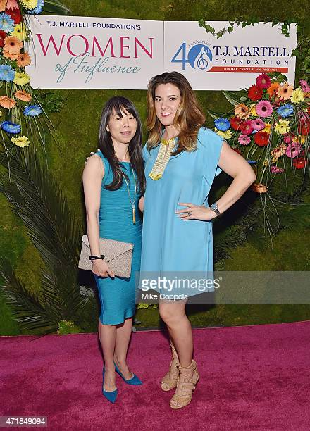 CEO StriVectin Oeratin Company Inc JuE Wong and Designer Elaine Turner attend the TJ Martell Foundation's Women of Influence Awards on May 1 2015 in...