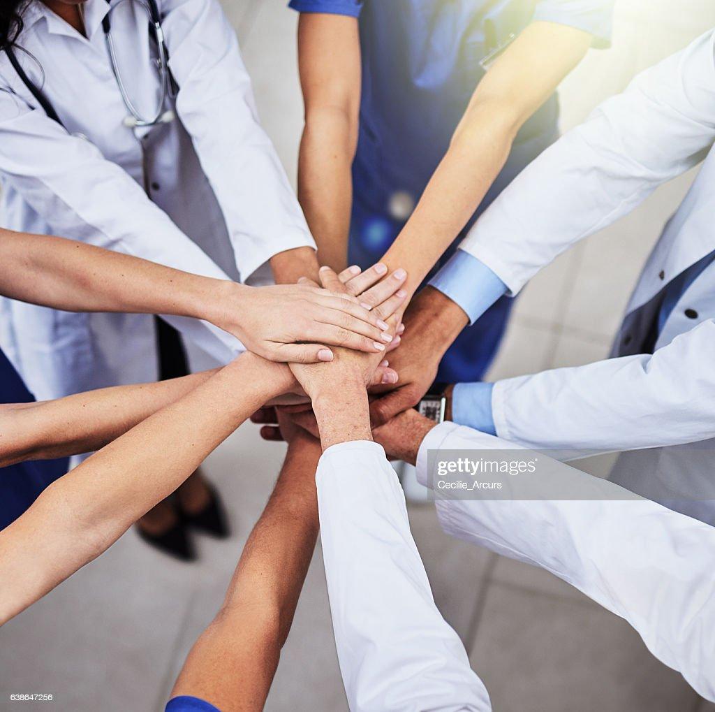 Striving to provide superior healthcare : Foto de stock