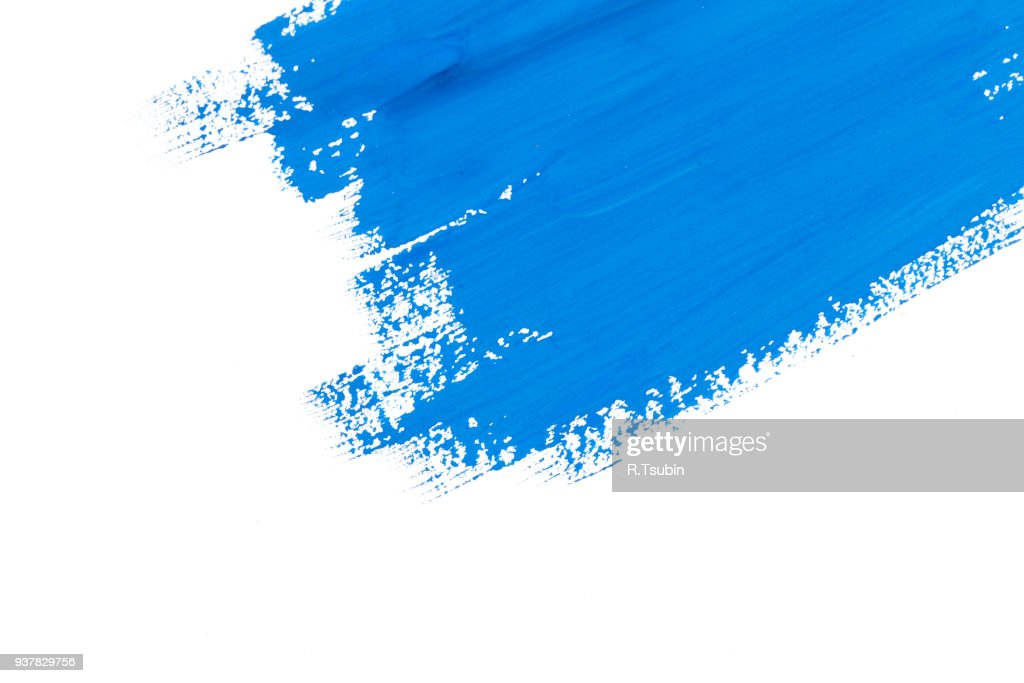 stroke blue paint brush : Stock Photo