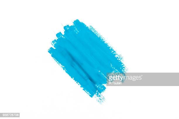 stroke blue paint
