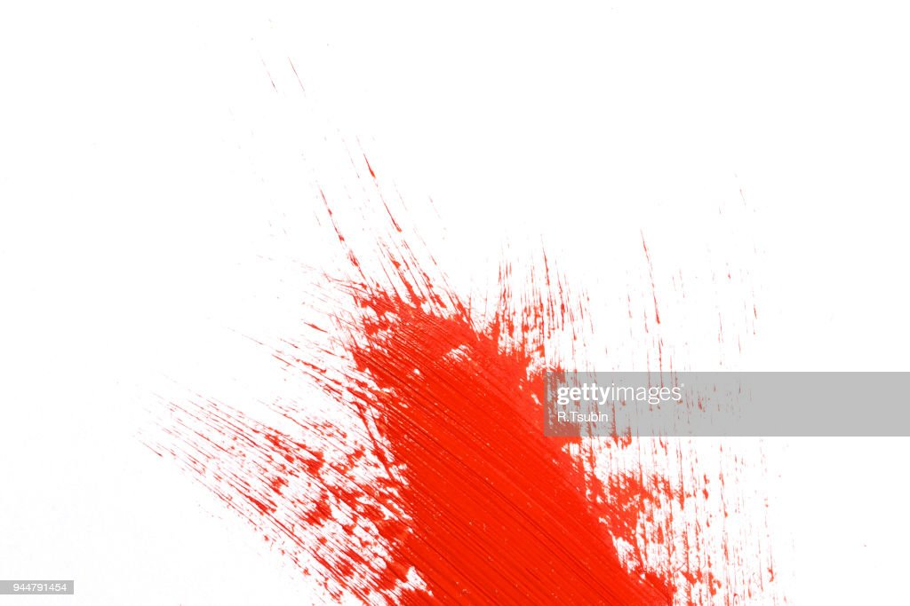 stroke of paint on paper : Stock Photo