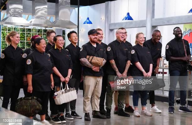 "Strokes of Genius"" Episode 1703 -- Pictured: Jennifer Carroll, Lee Anne Wong, Nina Nguyen, Melissa King, Kevin Gillespie, Bryan Voltaggio, Jamie..."
