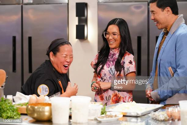 """Strokes of Genius"""" Episode 1703 -- Pictured: Lee Anne Wong, Ali Wong, Randall Park --"""
