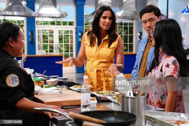 "Strokes of Genius"" Episode 1703 -- Pictured: Lee Anne Wong, Padma Lakshmi, Randall Park --"