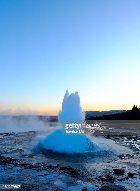 Strokkur Geyser erupting, geothermal area, Iceland