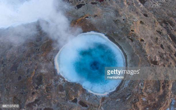 strokkur geysir, iceland - hot spring stock pictures, royalty-free photos & images