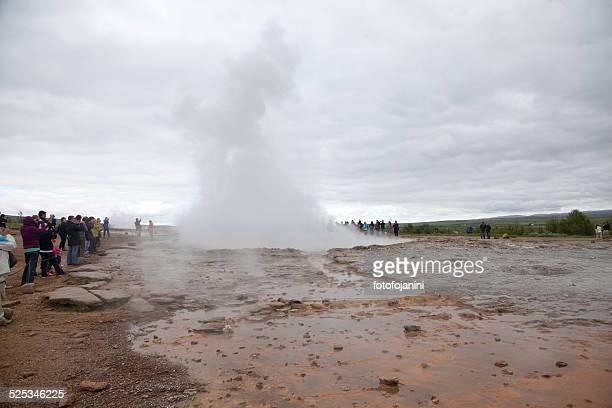 geyser strokkur - fotofojanini foto e immagini stock