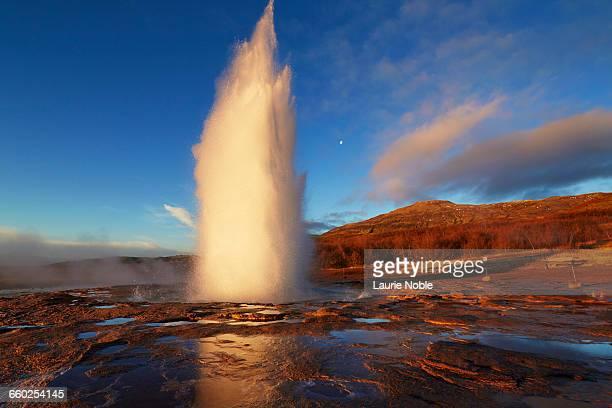 Strokkur geysir erupting, Haukadalur