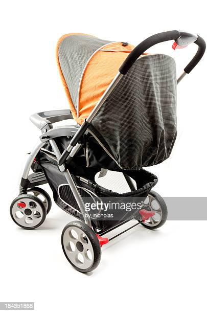 stroller isolated on white - baby carriage stock pictures, royalty-free photos & images