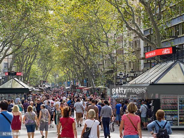 Strollers on La Rambla, Barcelona.