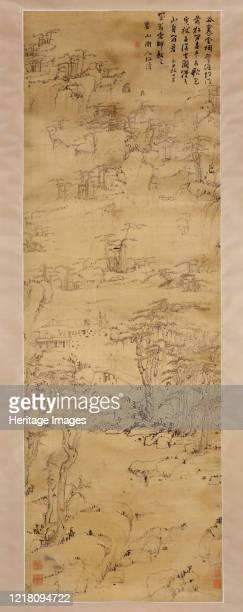 Strolling in a Misty Valley 1649 scenic area south of Xuancheng Qing dynasty Artist Mei Qing