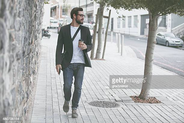 Strolling through the city