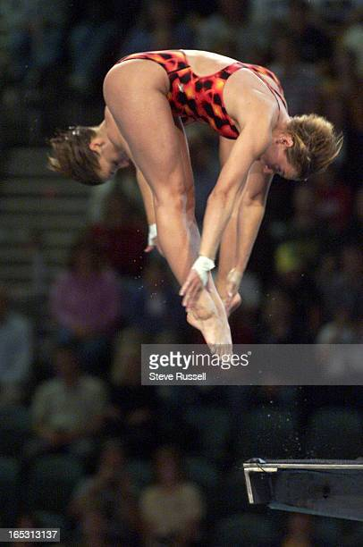 STROLYR106fancy9/27/2000Canada's Emilie Heymans right and Anne Montminy perform one of the five dives that scored them high enough to win silver at...