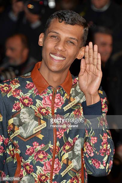 Stromae arrives at the 16th NRJ Music Awards at Palais des Festivals on December 13 2014 in Cannes France