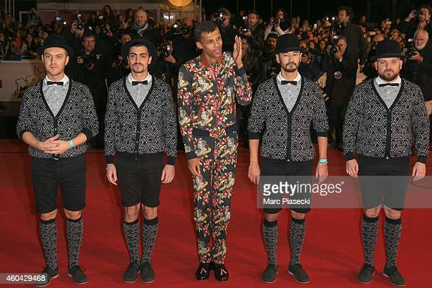 Stromae arrives to attend the '16th NRJ Music Awards 2014' ceremony at Palais des Festivals on December 13 2014 in Cannes France
