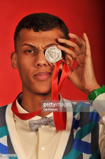 Stromae exclusive photoshoot with Stromae Humo's Pop Poll de Luxe Sportpaleis Antwerpen Belgium