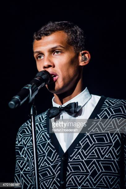Stromae performs live during a concert at Astra on February 18 2014 in Berlin Germany