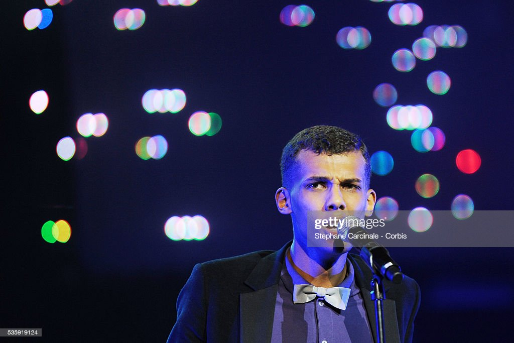 Stromae performs live during the celebration of Prix Constantin 2010 at L'Olympia, in Paris