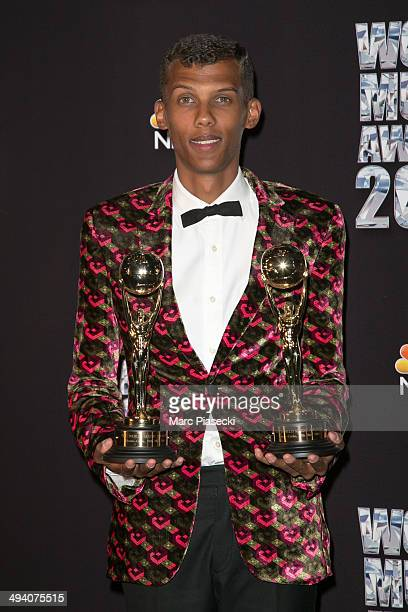 Stromae poses in the Press Room during the Sporting MonteCarlo on May 27 2014 in MonteCarlo Monaco
