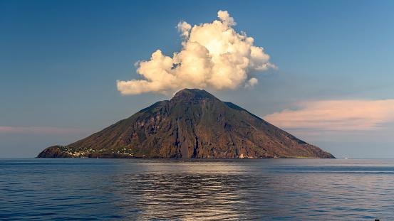 Stromboli Island in the Mediterranean sea 1057224818