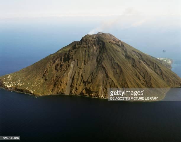Stromboli Island seen from South, Aeolian Islands, Sicily, Italy.