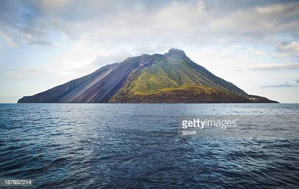stromboli - volcano stock photos and pictures