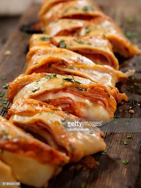 Stromboli with Pepperoni, Ham and Salami