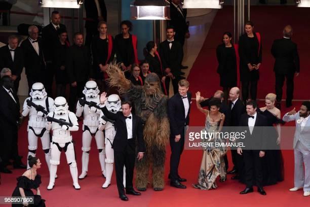 Stromtroopers US producer Simon Emanuel Chewbacca Finnish actor Joonas Suotamo British actress Thandie Newton US director Ron Howard US actor Alden...