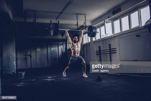 strong bodybuilder - crossfit stock pictures, royalty-free photos & images