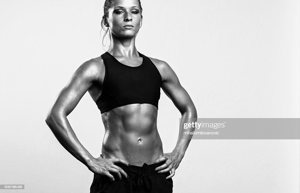 Strong fitness woman with attitude : Stock Photo
