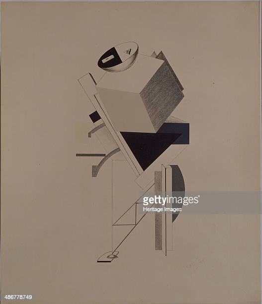 Strong guy Figurine for the opera Victory over the sun by A Kruchenykh 19201921 Artist Lissitzky El