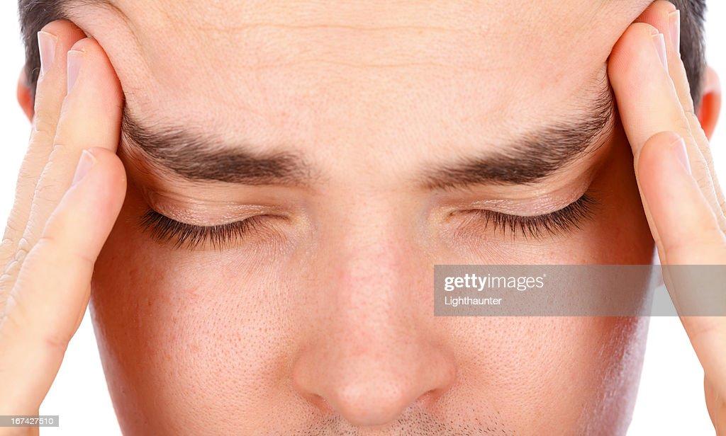 Strong Headache : Stock Photo