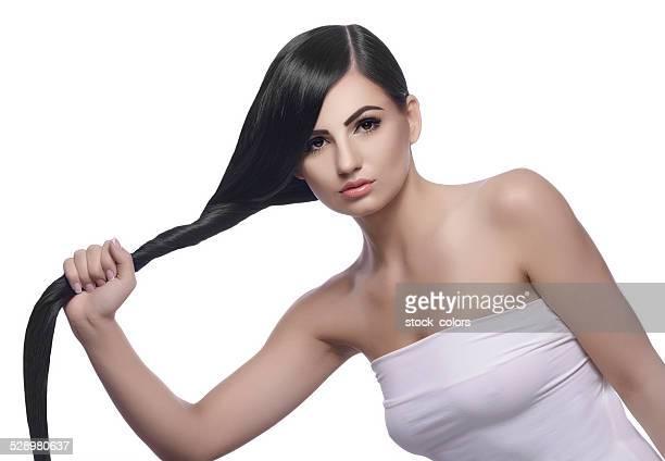 strong healthy black hair