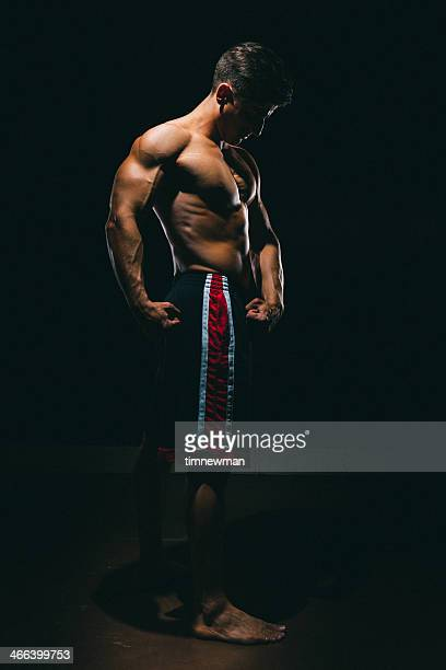 Strong Male Athlete Full Body Portrait
