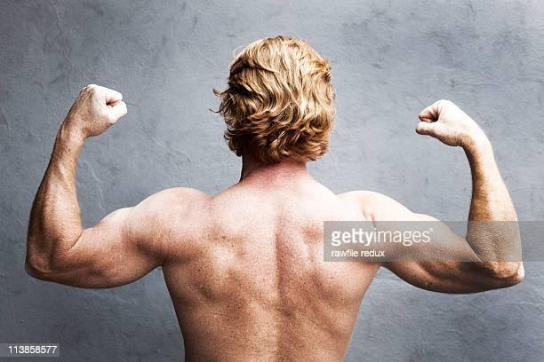 strong man - menselijke rug stockfoto's en -beelden