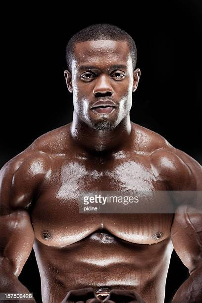 Strong Man Sweating