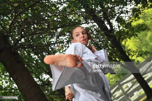 strong martial arts practice - gerville stock pictures, royalty-free photos & images