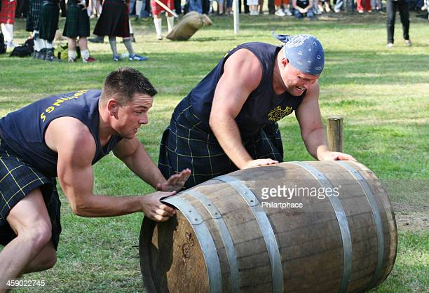 Strong men at Highland Games