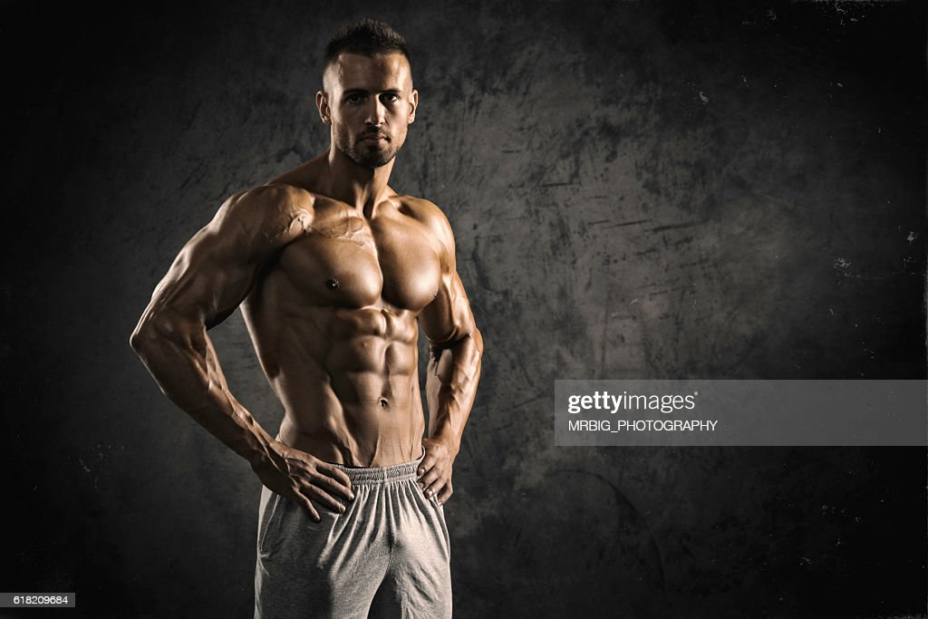 Strong Muscular Men : Stock Photo