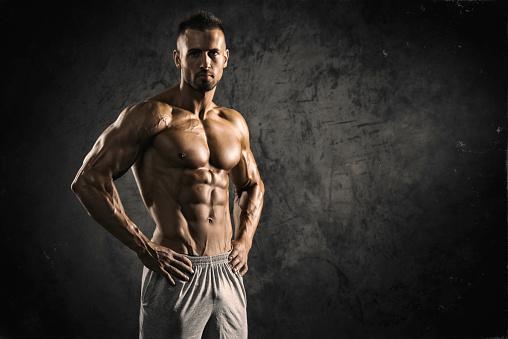 Strong Muscular Men 618209684