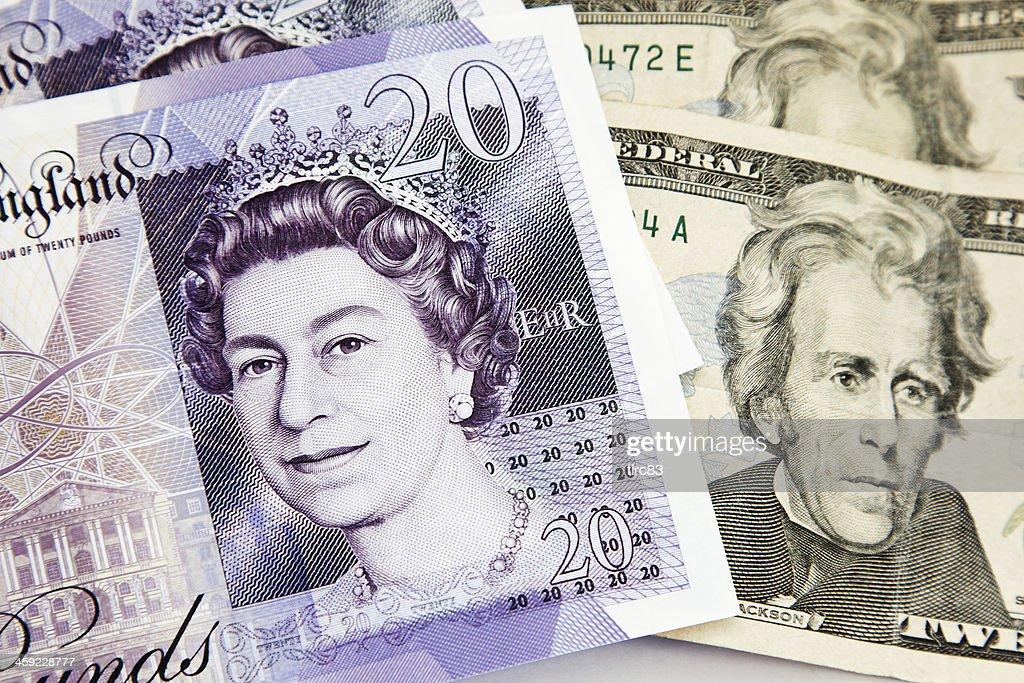 Strong pound weak dollar : Stock Photo