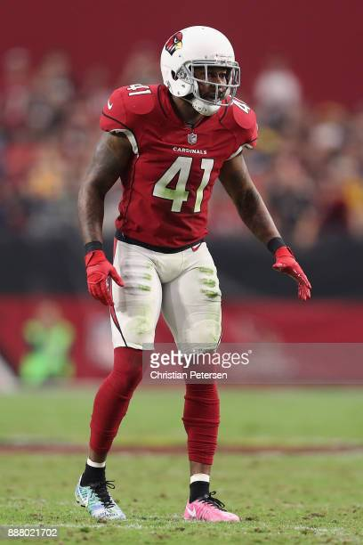 Strong safety Antoine Bethea of the Arizona Cardinals during the NFL game against the Los Angeles Rams at the University of Phoenix Stadium on...