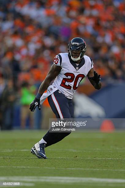 Strong safety Chris Clemons of the Houston Texans during a preseason game against the Denver Broncos at Sports Authority Field at Mile High on August...