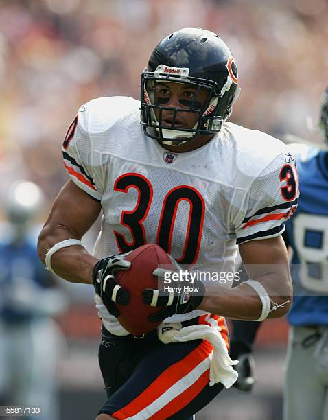 Strong safety Mike Brown of the Chicago Bears carries the ball against the Detroit Lions during the game at Soldier Field on September 18 2005 in...