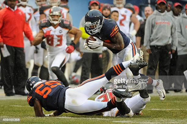 Strong safety Ryan Mundy of the Chicago Bears intercepts the football intended for running back Charles Sims of the Tampa Bay Buccaneers in the third...