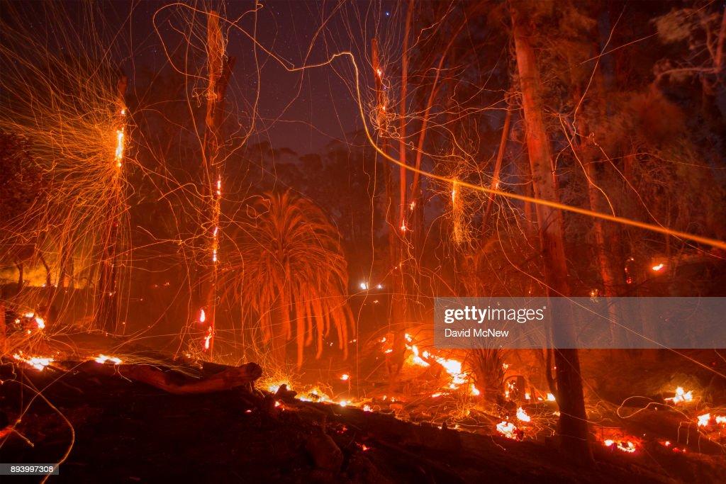 Santa Ana Winds Continue Thomas Fire Threat In Santa Barbara County : News Photo