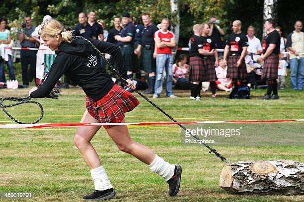 Strong woman at Highland Games