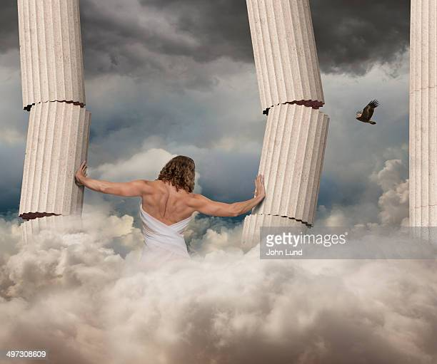 strong woman hercules - hercules stock pictures, royalty-free photos & images