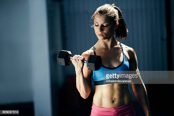 strong young woman - daily sport girls stock pictures, royalty-free photos & images