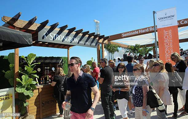 Strongbow Apple Hard Ciders stand on display at Goya Foods Grand Tasting Village Featuring MasterCard Grand Tasting Tents KitchenAid® Culinary...